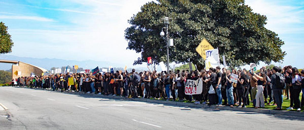 COLA Rally at the entrance of UCSB